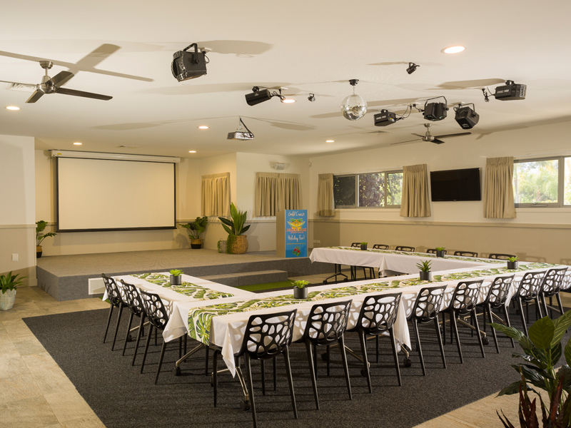 Activity Centre Meeting Set-up at Ashmore Palms