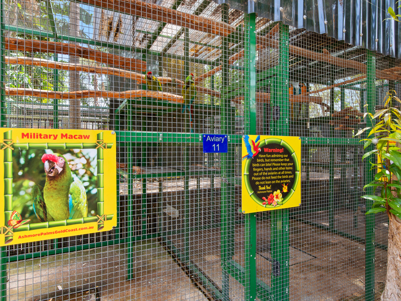Bird Aviaries at Ashmore Palms