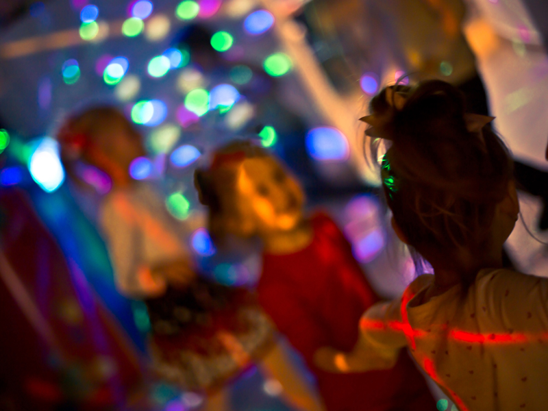Kid's Glow Disco's in the Activity Centre at Ashmore Palms