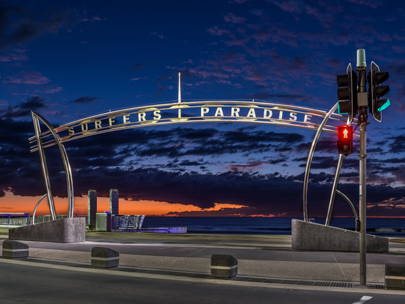 Surfers Paradise by Night on the Gold Coast