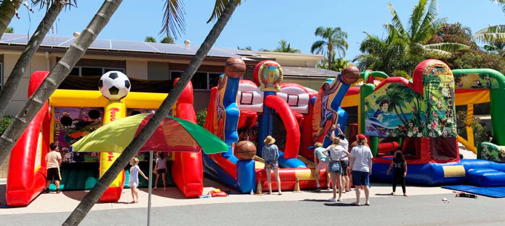 Inflatable Family Fun Zone at Ashmore Palms